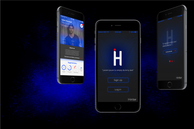 Hinter mobile app design