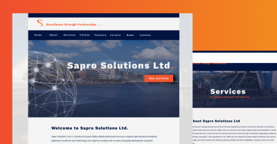 Sapro Solutions ltd website design
