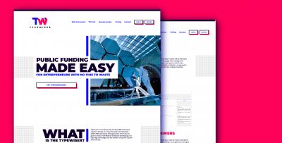 Typewiser website design